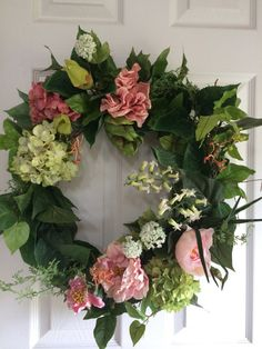 Floral Wreath by BlossomsTwo on Etsy