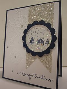 Might be hard to send in the mail, but it's a really cute idea! Shaker Frames! -Stampin' Up!