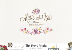 Wedding Floral Logo Design – The Paris Studio – Creative Logo Design Branding NYC – Paris