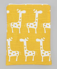 Look at this Brownie Gifts Yellow Giraffe Wet Bag on #zulily today!