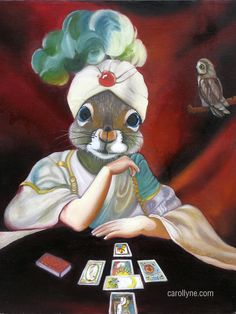 Fortune Teller Squirrel: I see in my friend Aron 's future,,,, a very pretty girl and lots of children