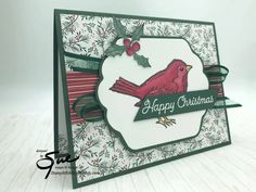 Stampin Up Christmas, Handmade Christmas, Christmas Cards, Holly Images, Bird Cards, Stamping Up Cards, Cute Birds, Winter Cards, Christmas Design