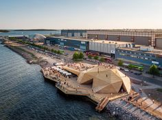 Löyly public sauna in Helsinki, Finland by Avanto Architects. Photo by Kuvio Architectural Photography
