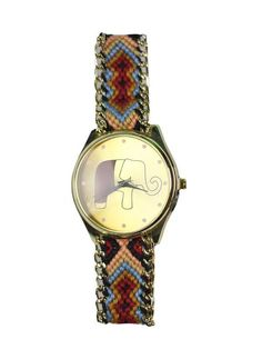 Pollux Elephant Watch in Navy and Red