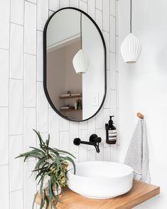 Bathroom Mirror Ideas for Small Bathroom - Unique & Modern Designs Life-changing contemporary bathroom mirror ideas // bathroom vanity mirror lighting ideas Bad Inspiration, Bathroom Inspiration, Bathroom Ideas, Bathroom Sinks, Bathroom Storage, Glass Bathroom, Budget Bathroom, Bathroom Designs, Rental Bathroom