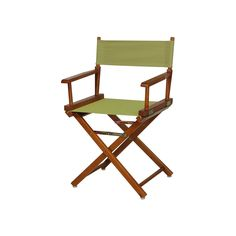 Casual Home 18-in. Honey Oak Finish Director's Chair, Beig/Green (Beig/Khaki)