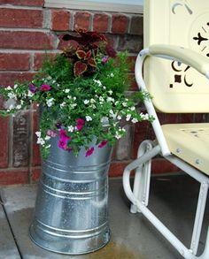 Paint Bucket Planters!