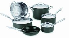 Click Image Above To Purchase: Cuisinart Nonstick Green Gourmet Hard Anodized Cookware Set Cast Iron Cookware, Cookware Set, Kitsch, Cuisinart Cookware, Bakeware, Induction Cookware, Cooking Temperatures, Thing 1, Stainless Steel Dishwasher