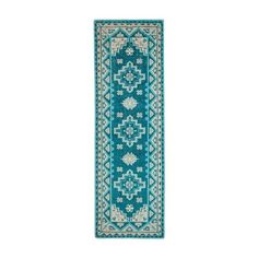Adana Rug (37 830 UAH) ❤ liked on Polyvore featuring home, rugs, border rug, blue area rugs, border area rugs, medallion area rug and blue rug