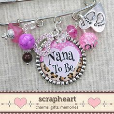 Nana To Be Pin PERSONALIZED Bezel Pendant by ScrapheartGifts