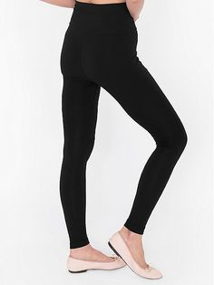 Cotton Spandex Jersey High-Waist Legging