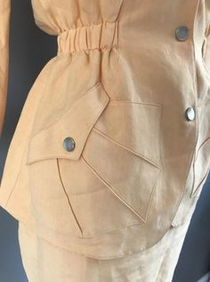 Fashion Sewing, Curvy Fashion, Womens Fashion, Couture Details, Fashion Details, High Fashion Outfits, Classy Outfits, Night Suit For Women, Military Inspired Fashion