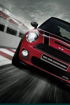 Red Mini cooper!