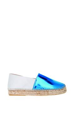 Lika Mimika Classic Upgrade In Shiny Blue White by Lika Mimika for Preorder on Moda Operandi