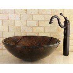 Amber Bronze Vessel Bathroom Sink