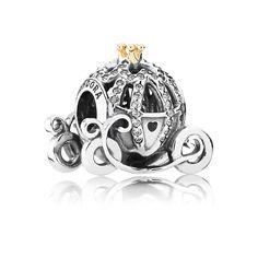 Disney Cinderella pumpkin coach silver charm with 14k and cubic zirconia - 791573CZ - Charms | PANDORA