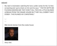His first time watching the Harry Potter series... lol!