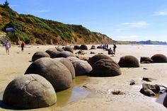Moeraki boulders, NZ  One of the most mysterious natural formations in the world.