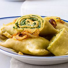 Maultaschen with spinach - like German ravioli.  use google translate for instructions (who knew food processor in German translated to 'flash hacker'? lol)