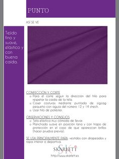 El dossier de las telas Skarlett Sewing Clothes, Diy Clothes, Sewing Hacks, Sewing Projects, Clothing Patterns, Sewing Patterns, Sewing School, Fashion Dictionary, Fashion Vocabulary
