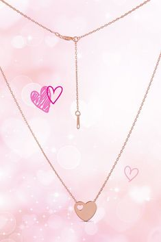 1d647bd58de6e Fall in love with the petite and classic design of this rose gold heart  necklace.