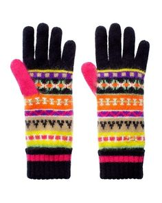 Angora Fair Isle Gloves
