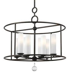 Crystorama Cameron 8 Light Wrought Iron Chandelier I