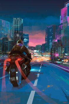 Pin by Marc Nix on Scifi in 2019 Cyberpunk 2077, Cyberpunk City, Fullhd Wallpapers, Anime Motorcycle, Arte 8 Bits, Cyberpunk Aesthetic, Vaporwave Art, Night Aesthetic, Futuristic Art