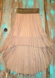 Cowgirl High Low Skirt Perfect skirt to wear with your cowboy boots $21.99