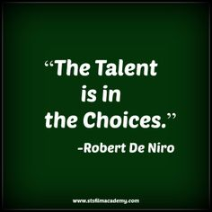 Robert De Niro Quote