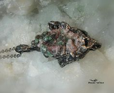 Brochantite on dolomite pendant Ornael healing Fairy Jewelry, Metal Working, Diana, Delicate, Healing, Pendant, Etsy, Metalworking, Hang Tags