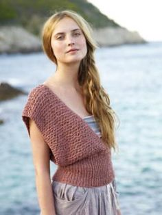 modern vintage knit would look cool with top part woven and then add knitted ribbing at waist