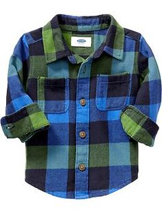 Buffalo-Plaid Flannel Shirts for Baby (Old Navy 12m-5T)