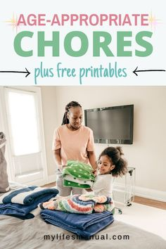Age-appropriate chores help to teach kids personal responsibility, setting goals, achieving them and learning essential life skills that can definitely help them when they get older. In this post, you'll learn age-appropriate chores for kids and how to get kids to do chores. Chore List For Kids, Age Appropriate Chores For Kids, Setting Goals, Life Skills, Getting Old, Teaching Kids, Printables, Learning, Getting Older