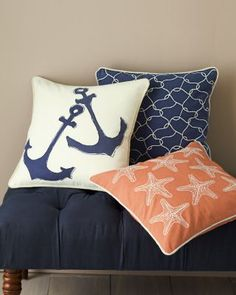 Garnet Hill Canvas Pillow Cover Collection #nautical