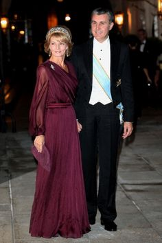 Oct 19 - Princess Margarita of and Prince Radu of Romania attend the Gala dinner in Luxembourg Royal Crowns, Royal Jewels, Romanian Royal Family, Gala Gowns, Casa Real, Royal House, Prince And Princess, Royal Fashion, Royalty