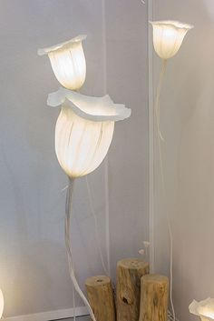 Lampes en papier par Charlot & Cie