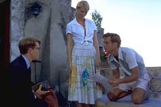 Cute Beach Outfits, Blue Evening Gowns, Italian Summer, Black Cat Eyes, Jude Law, Old Money, Fashion Tv, 1950s Fashion, Paramount Pictures