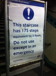 London photo: don't even think about taking the stairs