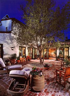 Wonderful outdoor courtyard setting.