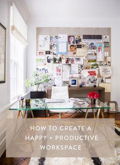 How to create a happy + productive workspace // rachelgadiel.com