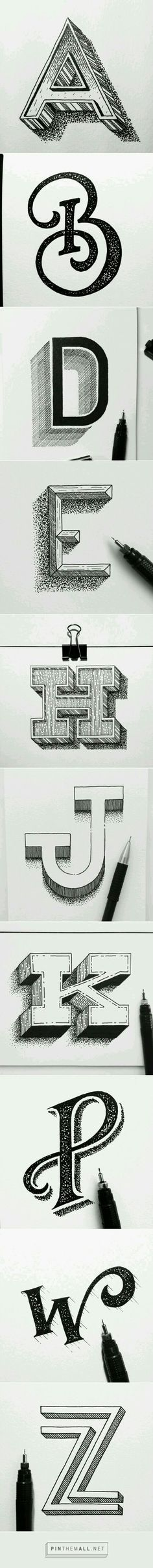 Hand Lettering | Design | Typography | Type | Logo Design | Black + White