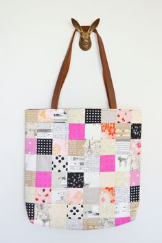 Limited Edition - Linen Smooch / Patchwork Tote Bag
