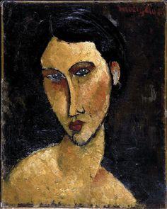 Amedeo Modigliani (Italian, 1884-1920) - Woman with Blue Eyes, 1917