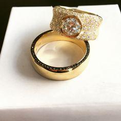 Bespoke wedding rings. Diamonds from Copenhagen Diamond Exchange