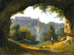 Jean-Charles-Joseph Remond ( 1795 - 1875) VIEW OF TIVOLI FROM A GROTTO