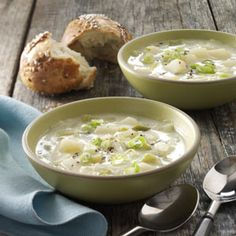 Leek and Potato Soup- my favorite, so yummy and healthy for you.  From my Irish cookbook