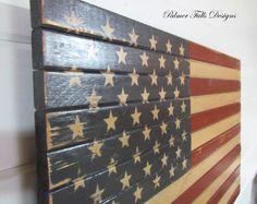 Traditional Wood American Flag / Patriotic by PalmerFallsDesigns