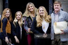 31 January 2018 - Dutch Royal Family attends Princess Beatrix's 80th birthday reception at Amsterdam Royal Palace - jacket and sweater by Sandro