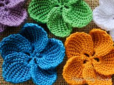 Ravelry: Plumeria Flower pattern by Happy Patty Crochet ༺✿ƬⱤღ✿༻